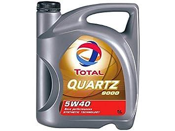 Total 1951052031 - Aceite de Motor Quartz 9000 5w40 5l: Amazon.es: Coche y moto