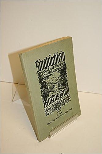 Book Singburhlein Fur Das 5 Bis 8 Schujahr Der Volkshauntschule