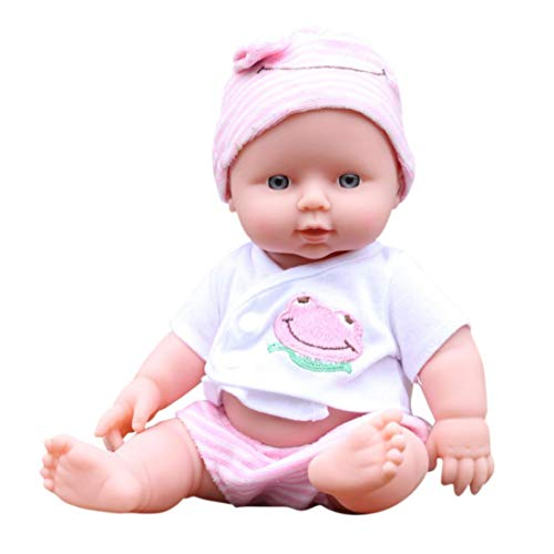 Hot Sale! Sunfei Baby Emulated Doll Soft Children Reborn Baby Doll Toys Boy Girl Birthday Christmas Gift (Pink)