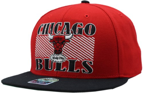 '47 Brand NBA Chicago Bulls Red Diagram MVP Snapback Genuine - Jersey Michael Jordan Authentic