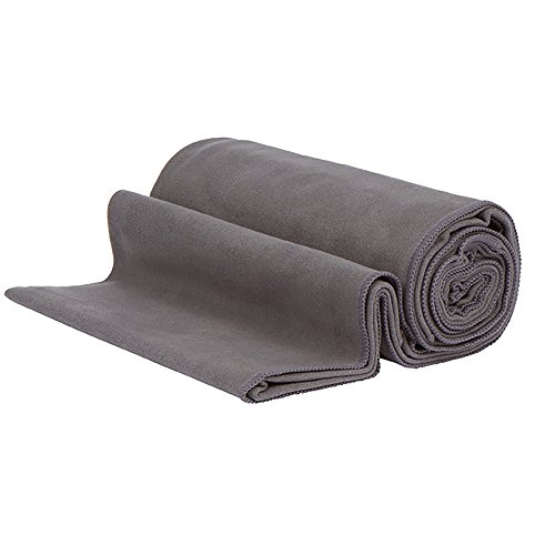 Manduka PRO Yoga Mat & EQua Yoga Towel Set, Black/Thunder