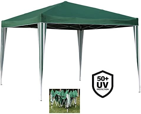 Angel Living Plegable Pop-Up Gazebo 3x3m Plegable Tienda De CampañA JardíN Patio Exterior Marquesina Toldo Con Bolsa De Transporte (Verde): Amazon.es: Jardín