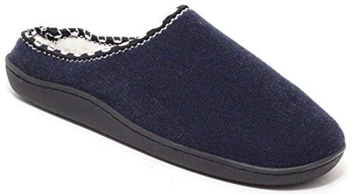 Herren Filzclogs Filz Hausschuhe Slipper Puschen Pantoffeln Schuhe Clogs Blau