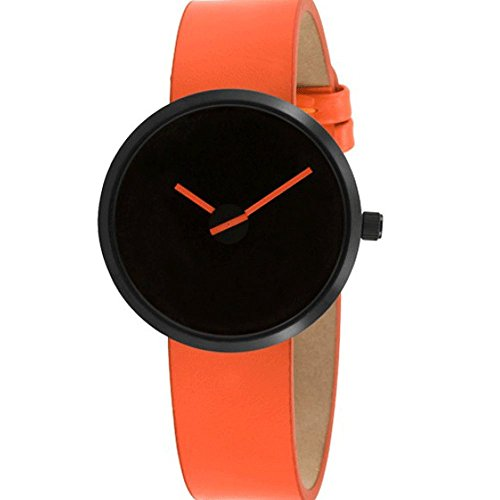 Projects 7290O Unisex Sometimes Orange Leather Watch