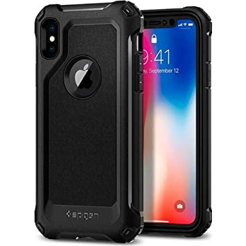 finest selection b415f 3c8f9 iPhone X Case, Spigen [Pro Guard] iPhone X Full Protection Case with ...