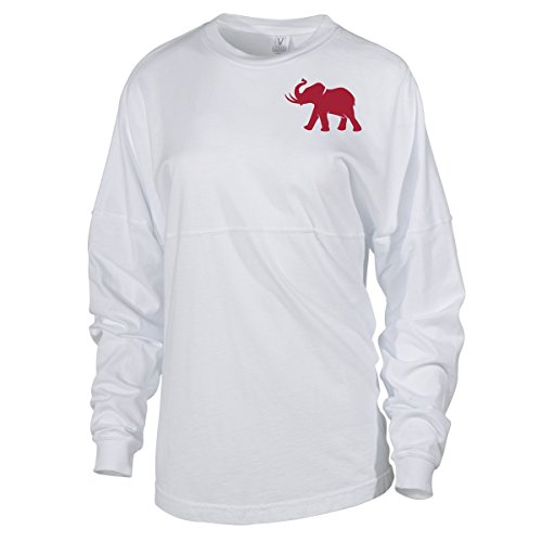Official NCAA University of Alabama Crimson Tide UA ROLL TIDE! Women's Long Sleeve Spirit Wear Jersey T-Shirt