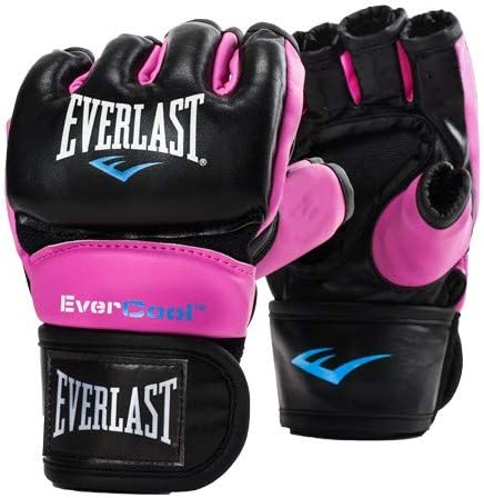 Regular - Pink Everlast Pro Style Grappling MMA Gloves S//M