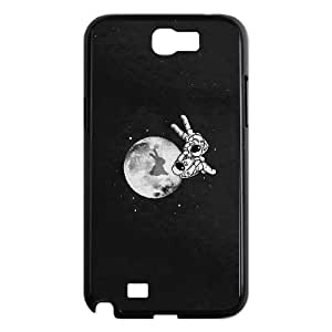 Samsung Galaxy N2 7100 Cell Phone Case Black RABBIT ON THE MOON LSO7825249