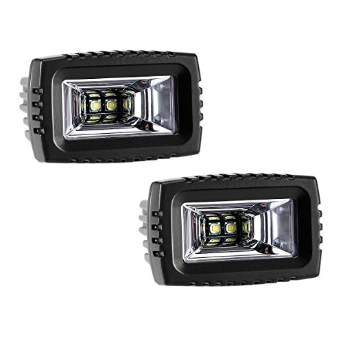 2pcs 20W LED Square Work Light Spot and Flood Lamp For Trucks and Off Road Vehicle Lighting , 1000LM, 6000k, IP67 Waterproof