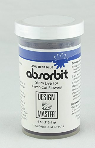 Systemic Design - Design Master Absorbit Stem Dye for Fresh Cut Flowers Matte Finish Systemic (Deep Blue)
