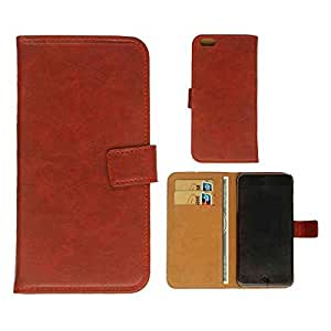 CellTx Wallet Case For Apple (iPhone 6 Plus) Magnetic Case Diary Portfolio Cover (Red, Leather) AT&T, T-Mobile, Sprint, Verizon, Boost Mobile, U.S Cellular, Cricket by Maris's Diary