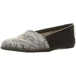 Aerosoles Women's Trend Setter Slip-on Loafer, Black Lace, 9 W US