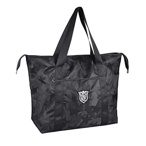 Women's Travel Tote Shoulder Handbag,Super Polyester Fibre Extra Large Lightweight Water Resistant Camouflage - Grey