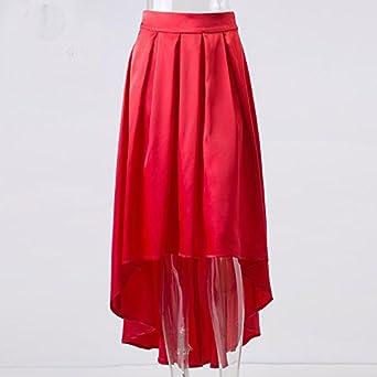 0e170cad0 BABUBALA Elegant Elegant Ruffles Asymmetrical Maxi Long Satin Skirts Women  Autumn Winter Sexy Party Girls Black