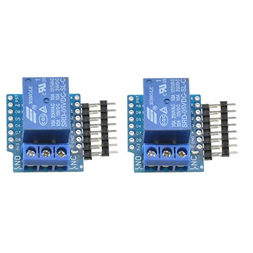 2Pcs WeMos D1 Mini ESP8266 Development Board Relay Shield for Arduino