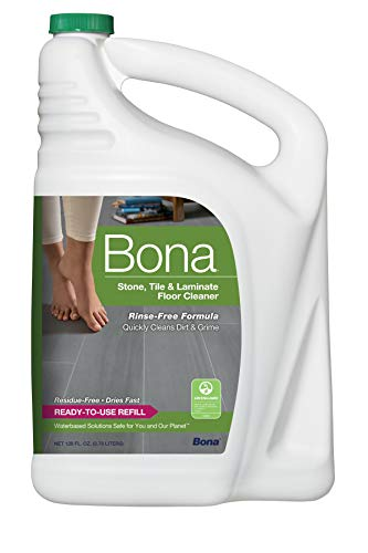 Bona Stone, Tile & Laminate Floor Cleaner Refill, 128 oz (Best Way To Clean Marble Tile)