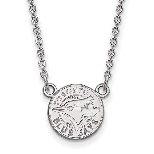 (MLB Toronto Blue Jays Sterling Silver MLB LogoArt Toronto Blue Jays Sm Pend with Necklace Size One Size)