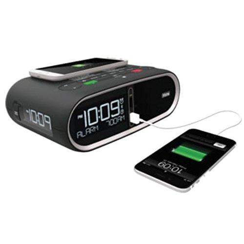 (Triple Display NFC Bluetooth Alarm Clock Wireless QI/PMA Dual Standard Charging)