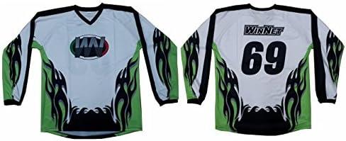 Amazon.es: Camiseta camiseta casaca de Cross Verde Kawasaki con número 69 2XL Verde