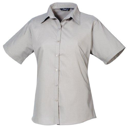南東六分儀対称(プレミエ) Premier レディース 無地 半袖 ポプリンシャツ ブラウス ワイシャツ フォーマル ワークシャツ 定番