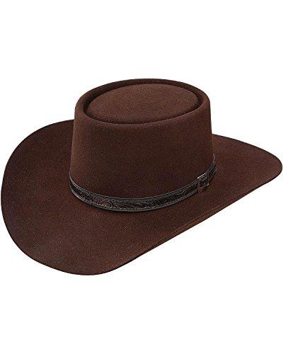 (Stetson Men's 4X Buffalo Revenger Felt Gambler Hat (7 3/8, Chocolate))