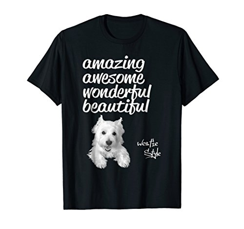 (Westie T-shirt West highland white terrier gift for mom )