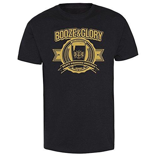"Booze & Glory ""Heavy Drinking Brigade"" T-Shirt (M)"