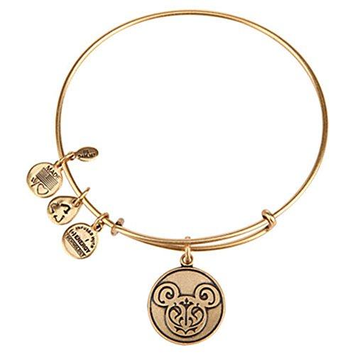 Disney Parks Alex and ANI Mickey Mouse Filigree Bangle Bracelet (Gold) -