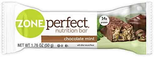 ZonePerfect Nutrition Snack Bars, High Protein Energy Bars, Chocolate Mint, 1.76 Ounce Bar, 5 Count
