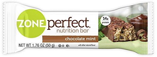ZonePerfect Nutrition Snack Bars, Chocolate Mint, 1.76 oz, (30 Count)
