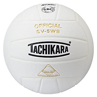 Tachikara NFHS Approved Sensi-Tec Composite High Performance Volleyball (White) by Tachikara