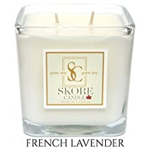 French Lavender Scented Soy Candle - 14 oz. Made with pure, natural soy wax. Best for eliminating odors in your kitchen. Invite our fragrant scents into your living and dining room.