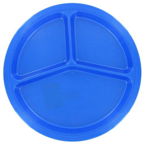 B&R Plastics Assorted Divided Picnic Plate, 10-1/2