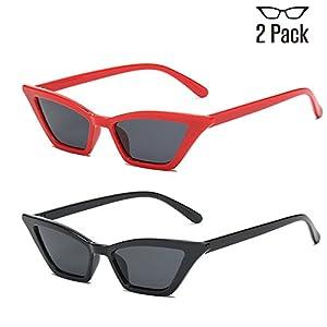 FAGUMA Hot Sale Fashion Sunglasses for Women, 2 Pack Sexy Small Cat Eye Sunglasses