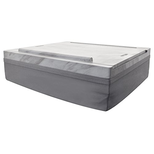 iCozy Portable Cushion Lap Desk With Storage - Marble / Charcoal Grey by  (Image #2)