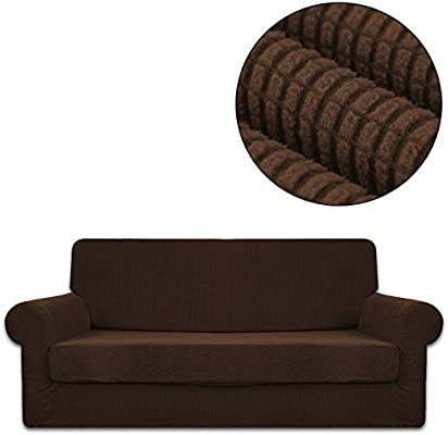 Amazon.com: ANJUREN Sofa Loveseat Couch Chair Slipcover ...