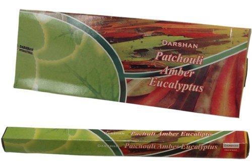 Patchouli Amberユーカリ – 120 Sticksボックス – Darshan Incense B004F0JNWC