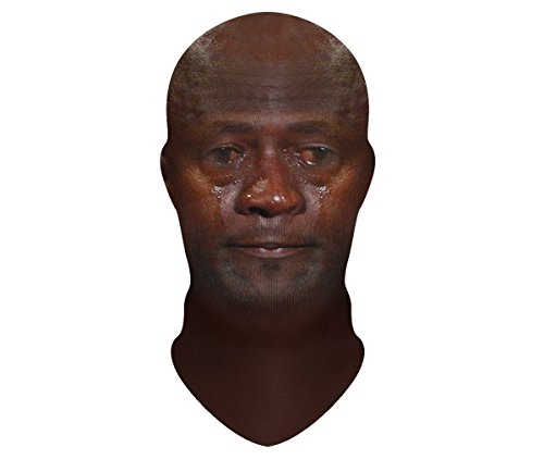 Beloved Shirts Crying Jordan Face Mask by Beloved Shirts