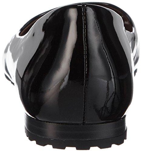 Caprice 22107 - bailarinas cerradas de cuero mujer negro - Schwarz (BLACK PATENT 018)