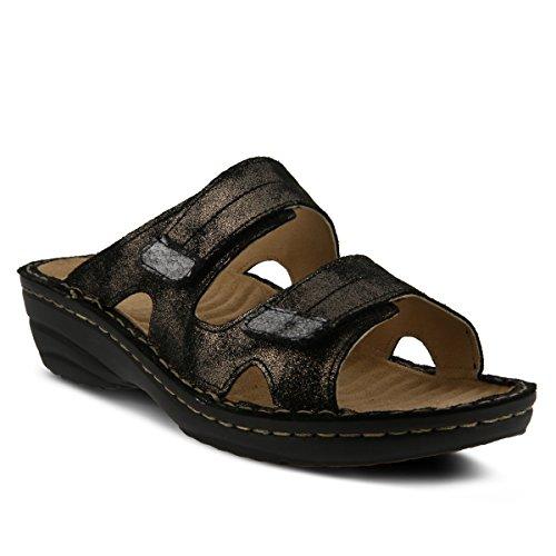 Spring Step Womens Marsela Flat Sandal Black AZIc5Jox