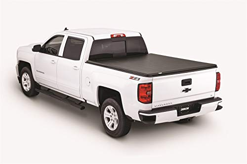 Hard Truck Bed Tonneau Covers - Tonno Pro HF-158 Black Hard Fold Truck Bed Tonneau Cover 2014-2018 Chevrolet Silverado/GMC Sierra 1500, 2015-2018 Silverado 2500, 3500 / GMC Sierra 2500 HD, 3500 | Fits 6.6' Bed