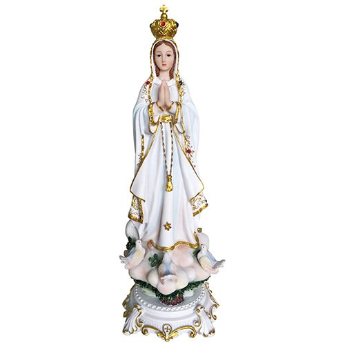Our Lady of Fatima Statue Catholic Virgin Virgen Santa Fatima Estatua 13 Inch