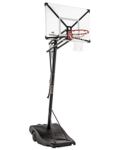 Silverback NXT 50' Backboard Portable Height-Adjustable Basketball Hoop Assembles in 90 Minutes