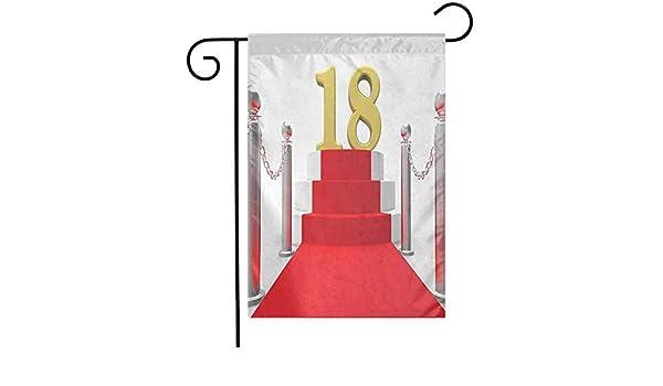 Shinanla Bandera de jardín al Aire Libre 18 cumpleaños ...