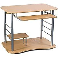 Portable Removable Square Computer Desk Beech Wood Color
