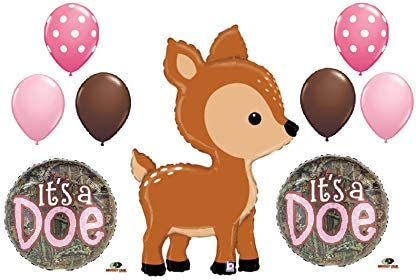 [해외]9 New Balloons It`s a Baby Girl DOE a Deer Shower Camouflage Hunter Hunting Gift Decor Gender Reveal / 9 New Balloons It`s a Baby Girl DOE a Deer Shower Camouflage Hunter Hunting Gift Decor Gender Reveal