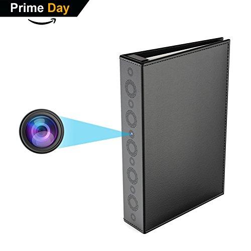 Conbrov Hidden Spy Book Camera, 720P Home Security Covert Camera