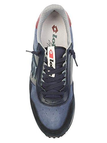 Lotto Hombre T0856NAVYDK Azul/Negro Cuero Zapatillas