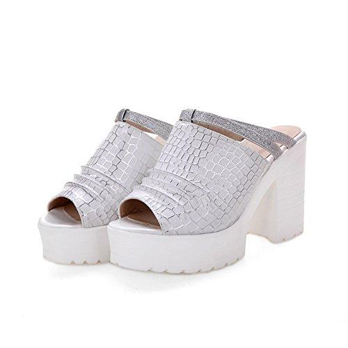 AdeeSu - Zapatillas de estar por casa para mujer blanco