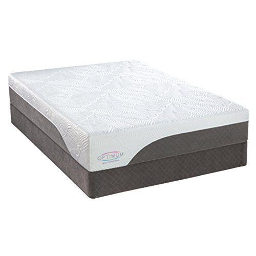 """Sealy 50822131 Optimum Latex Brasswood 12"""" Firm Conventional Bed Mattress, White, Twin/X-Large"""